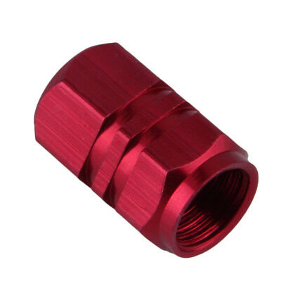 4pcs Aluminum Red Tire Wheel Rims Stem Valve Caps Air Tyre Cover Car Truck Bike