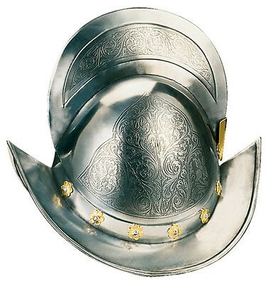 SPANISH CONQUEROR HELMET  (to Acid Gold) Natural Size-Replica-Marto - Toledo