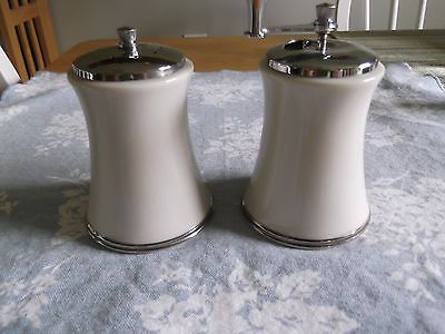 Lenox Solitaire Salt Shaker and Pepper Grinder Set Platinum Trim
