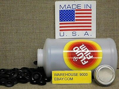1 Empty Quart,Fluid Film Bottle with 200 Rust Plug Buttons~No Fluid Included~