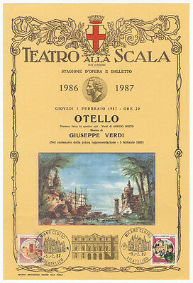 VERDI (Opera): Two broadsides commemorating the centenial of 1st perf. of Otello