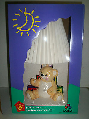 """Bear Lamp With ABC Blocks by Dolly, 15"""", New In Original Box"""