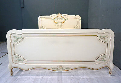 Vintage French Bed / Vintage King Bed / Shabby style (BR362)