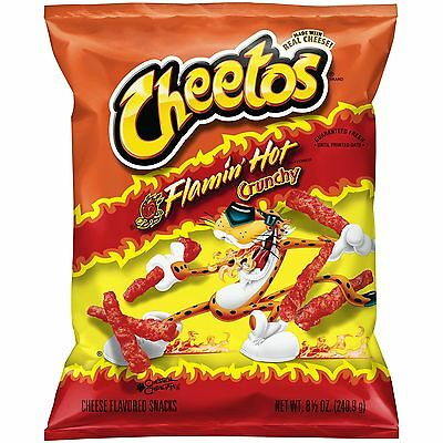New Sealed Cheetos Flamin Hot Crunchy Chips 8.5 Oz Free Worldwide Shpping