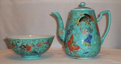 Chinese Teapot and Bowl