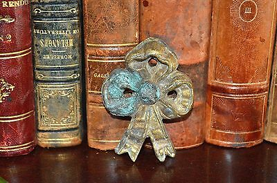 Antique French Bronze Bow Picture Hook Cover Decoration