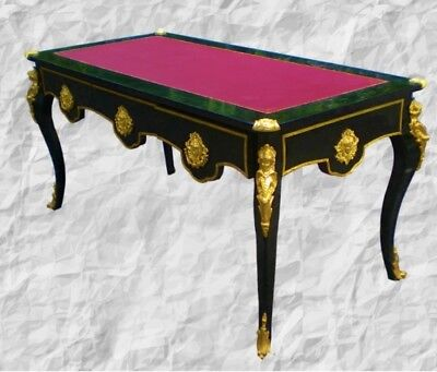 MAGNIFICENT Black and gold Louis XV style writing desk