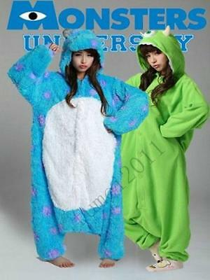 Adult Monsters University Mike Wazowski&sulley Monsters Costume Pajamas Onesi