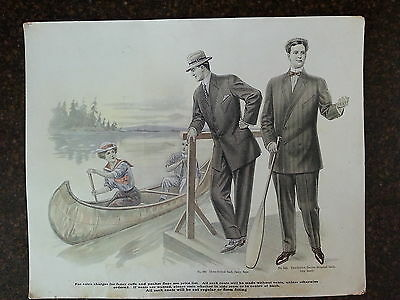 1900's In Store Mens Suit Ads- Sports Themed- Must See!- Canoeing