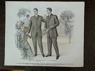 1900's In Store Mens Suit Ads- Sports Themed- Must See!-Badminton