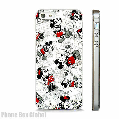 Mickey Minnie Mouse Disney Clear Case Fits Iphone 4 5 5S  5C 6 6S Se 7 & Plus