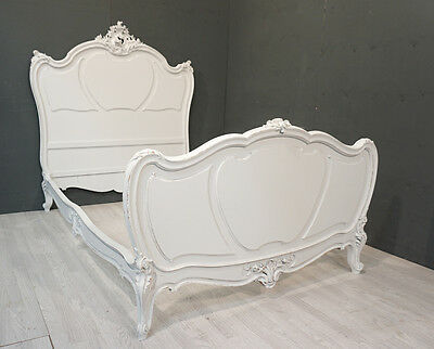 Antique French 3/4 size Bed / Shabby style French Bed (BR412)
