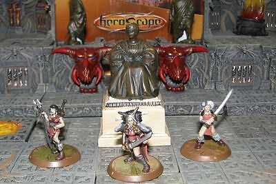 No Card Warriors of Ashra Wave 5 Thora's Heroscape D&D RPG Elven Amazons minis