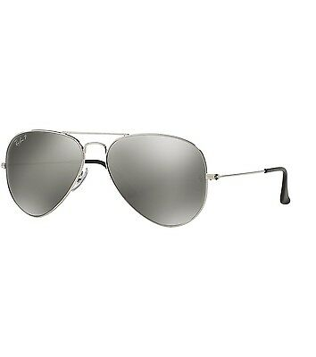 d5d475af5 Ray-Ban Polarized Aviator Sunglasses Rb3025 003/59 Silver Mirror Lens New