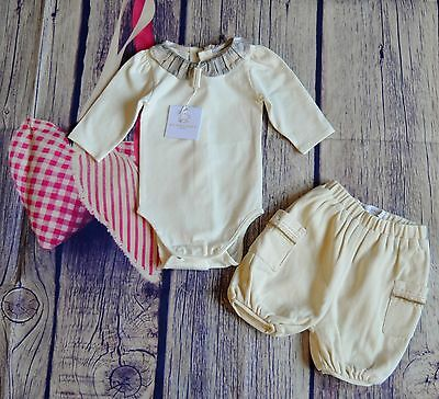 New & Used Burberry Baby Girls Designer Clothes Bundle Top & Bloomer Shorts 1 Mt
