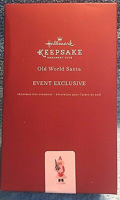 Hallmark 2017 KOC event exclusive, Old World Santa, NRFB, free ship