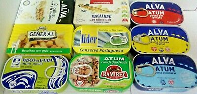 2 CANS OF PORTUGUESE SPECIALTIES Sardines, Tuna, SQUID, OCTOPUS, POTA 110G/120G