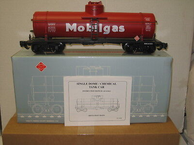 ART-41301 Aristocraft Mobil Oil Single Dome Tank Car Displayed Only (Mint) G-SCL