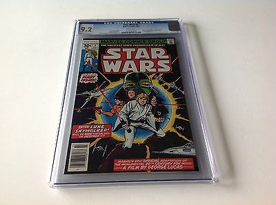 Star Wars 1 Cgc 9.2 White Pgs A New Hope Marvel Comics First Printing 1977 Lot T