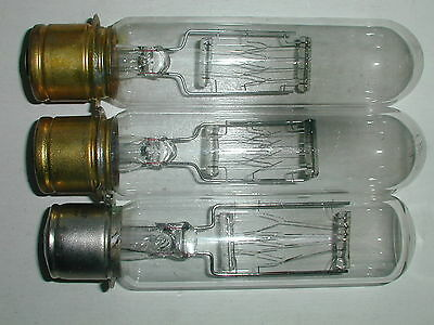 Three 125T 10/P 120 V Clear Bulbs Used
