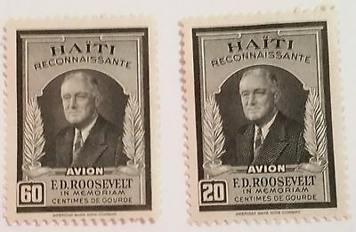 Haiti F.d Roosevelt Stamp.....worldwide Stamps
