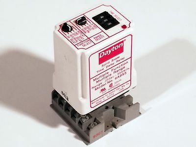 Dayton 6A855 Multi-Function Time Delay Relay w/Base Socket .05s-999m *EXCELLENT*
