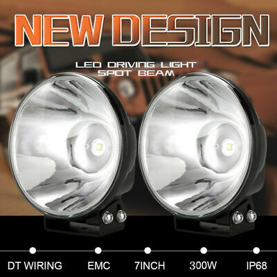 7inch 98000W Cree Round LED Driving Lights Black Spot Work Offroad 4x4 ATV Truck