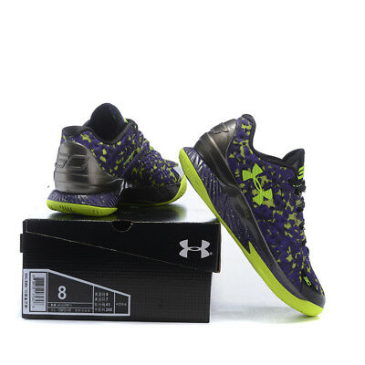 Sport Running Shoes Men's Under Armor Men's UA Black purple Basketball Shoes UK