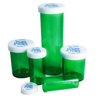 Smell Proof Push and Turn Vials - Odorless Air Tight Medical Container Jar - USA