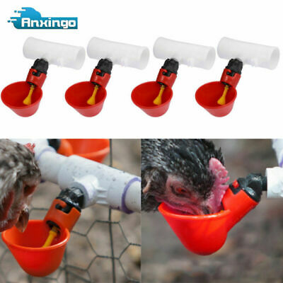 4 Pack  Poultry Water Drinking Cups-Chicken Hen Plastic Automatic Drinker New