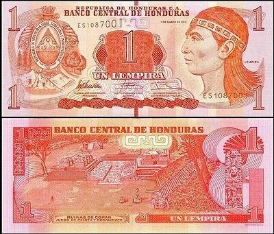HONDURAS 🇭🇳 1 Lempira Banknote, 2012, P-96, UNC World Currency