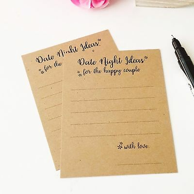 40x Advice Mini Cards Date Night Ideas Party Guest Book Wedding Wishing Well