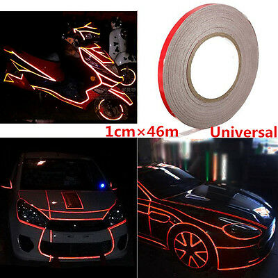 Reflective Sticker Tape SUV Car Body Trim Stripe Decal Self Adhesive 1cm*150feet