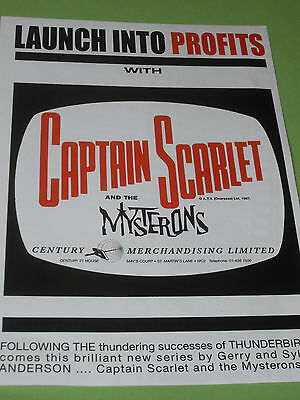 Captain Scarlet and the Mysterons Advertising Brochure from 1960's, Reproduction