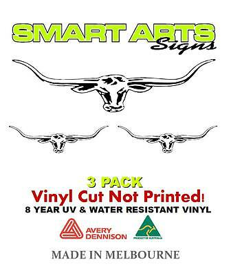 RM Williams Long Horns Sticker Decal Car Ute 4x4 Outback Quality Vinyl Removable
