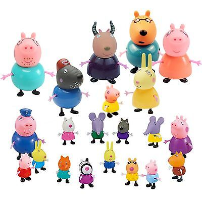 Toys Kids Gift 21 Pcs Peppa Pig Family&Friends Emily Rebecca Suzy Action Figures