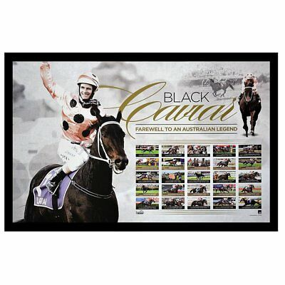 Horse Racing Black Caviar Farewell To A Legend Print - Framed