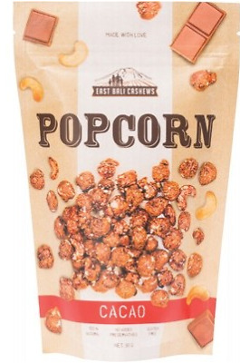 East Bali Cashews - Cacao Popcorn With Cashews 90g