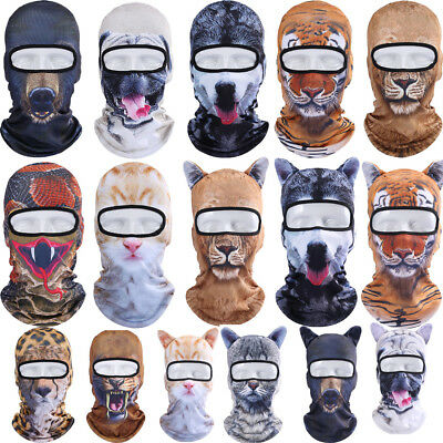 Motorcycle Cycling Bike Winter Ski Balaclava Animal Full Face Mask Cover Hat US
