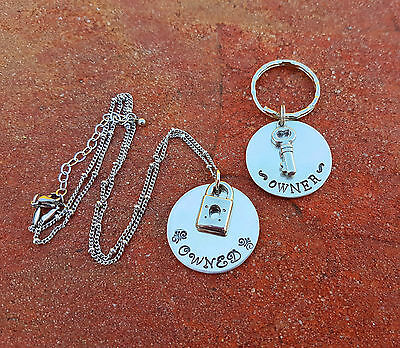 Owned and Owner Necklace and keychain set day collar ddlg Dom sub babygirl bdsm
