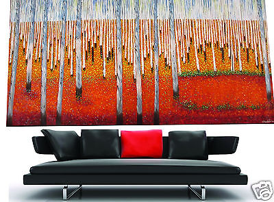 Huge Large aboriginal art painting landscape garden trees forest by jane COA