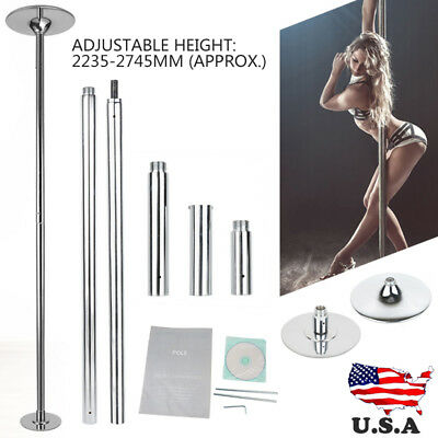 Dance Pole 45mm Solid Dancing Fitness Portable Static Stripper Spinning Exercise