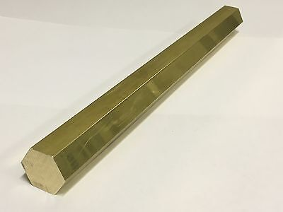 Brass Hex Bar - Various Sizes x 300mm long - C385