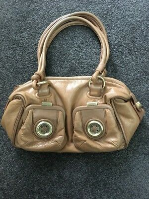 Mimco Mini Metal Button Zip Top Bag - Tan