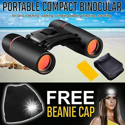 New Folding Binoculars Day Night Vision 30 x 60 Zoom Travel Telescope with Case