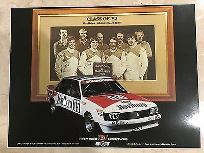 Peter Brock Larry Perkins Marlboro Holden Dealer Commodore  Bathurst 1982 poster
