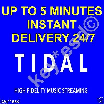 TIDAL Hi-Fi USA || 180 DAYS GURANTEED || auto email 5 MINUTES INSTANT DELIVERY