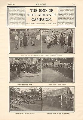 1901 Antique Print - The End Of The Ashanti Campaign