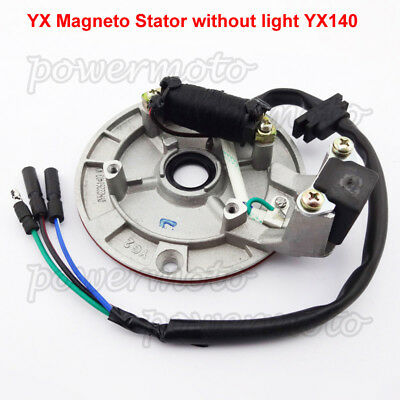 YX 140cc Engine Magneto Stator No Light Fit Dirt Pit Bike PitsterPro Stomp SSR