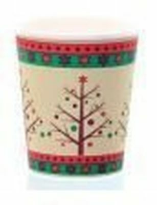 Christmas Tree Hot Cup with Lid 10-12oz Pack of 10